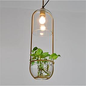 povoljno Stropna svjetla i ventilatori-DengLiangZhiXin Privjesak Svjetla Downlight Slikano završi Metal Glass Vodootporno 110-120V / 220-240V Meleg fehér / E12 / E14