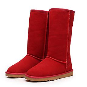 preiswerte Shenn®-Damen Stiefel Flacher Absatz Leder / Wildleder / Pelz Mittelhohe Stiefel Schneestiefel / Modische Stiefel Winter Schwarz / Braun / Gelb / EU42