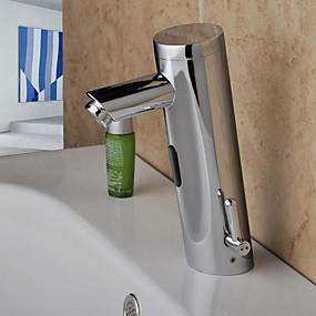 preiswerte Induktions-Hähne-Waschbecken Wasserhahn - Sensor Chrom Mittellage Hände frei Ein LochBath Taps