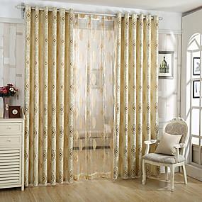 preiswerte Fensterdekoration-maßgeschneiderte umweltfreundliche Vorhänge Vorhänge zwei Platten / Jacquard / Esszimmer