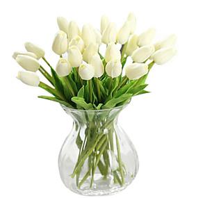 preiswerte Haus & Garten-Künstliche Blumen 1 Ast Moderner Stil Tulpen Tisch-Blumen