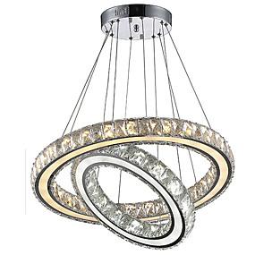 povoljno Viseća rasvjeta-Lusteri Ambient Light Electroplated Metal Crystal, LED 110-120V / 220-240V Bulb Included / Integrirano LED svjetlo