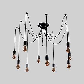 preiswerte Vintage Barbeleuchtung-QINGMING® 10-Licht Cluster Kronleuchter Moonlight Lackierte Oberflächen Metall LED 110-120V / 220-240V Inklusive Glühbirne / E26 / E27