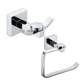 cheap Bathroom Gadgets-Bathroom Accessory Set / Toilet Paper Holder / Robe Hook / Chrome / Wall Mounted /Toilet roll holder/Brass /Contemporary