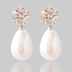 povoljno Nakit za vjenčanje i izlaske-Žene Sintetički dijamant Sitne naušnice Moda Biseri Naušnice Jewelry Pink Za Vjenčanje Party