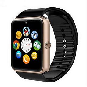 cheap Smart Watches-Men's Smartwatch Digital Luxury Touch Screen Digital Black Gold Silver / Rubber / Alarm / Calendar / date / day / Remote Control / RC / Pedometers