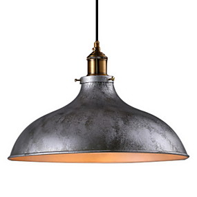 cheap Ceiling Lights & Fans-1-Light 36(14.17) Mini Style Pendant Light Metal Bowl Painted Finishes Rustic / Lodge / Vintage 110-120V / 220-240V