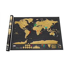 preiswerte Pädagogisches Spielzeug-Weltkarten zum Ausmalen Holzpuzzle Familie Karte Spaß Papier Klassisch Jungen Mädchen Spielzeuge Geschenk