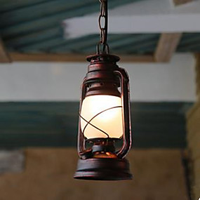 povoljno Viseća rasvjeta-Fenjer Privjesak Svjetla Ambient Light Others Metal Glass LED 110-120V / 220-240V Žuta Bulb not included / E26 / E27