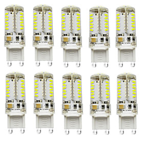cheap LED Bi-pin Lights-2.5 W LED Bi-pin Lights 200-250 lm G9 T 57 LED Beads SMD 3014 Waterproof Decorative Warm White Cold White Natural White 12 V 24 V Battery / 10 pcs / RoHS
