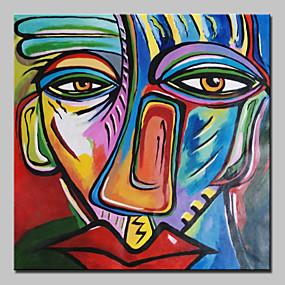 povoljno Slike za cvjetnim/biljnim motivima-Hang oslikana uljanim bojama Ručno oslikana - Sažetak Klasik With Frame / Prošireni platno