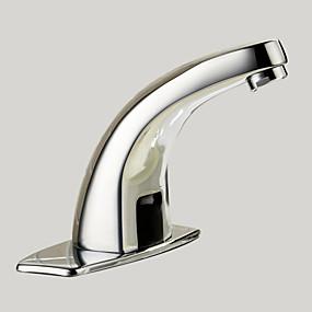 preiswerte Induktions-Hähne-Waschbecken Wasserhahn - berühren / berührungslos Chrom Mittellage Ein Loch / Hände frei Ein LochBath Taps