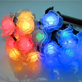 cheap Light Strips & Strings-5m String Lights 20 LEDs Dip Led Warm White RGB White Waterproof <5 V IP44
