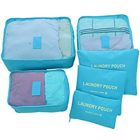 cheap Travel Bags-6 sets Travel Bag / Travel Organizer /  Packing Organizer Large Capacity / Waterproof / Ultra Light (UL) Non-woven Fabrics Travel drawstring with window travel shoe storage bags