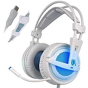 levne Hraní her-SADES A6 Herní sluchátka Kabel Hraní her Izolace proti hluku s mikrofonem S ovládáním hlasitosti
