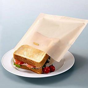 preiswerte Haus & Garten-wiederverwendbare Toasterbeutel für gegrillte Sandwiches Küche, die nicht haftende Lebensmittelsäcke kocht