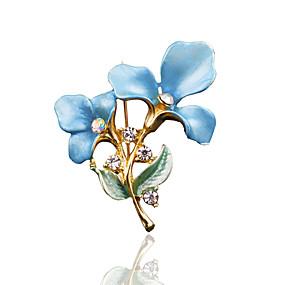 povoljno Nakit za vjenčanje i izlaske-Žene Broševi Stilski Moda Broš Jewelry Plava Pink Zlatan Za Vjenčanje Svakodnevica