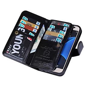 povoljno Maske za mobitele-Θήκη Za Samsung Galaxy S7 edge / S7 / S6 edge Novčanik Korice Jedna barva PU koža