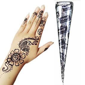 cheap Temporary Paints-1 pcs Henna Cones Temporary Tattoos Non Toxic Large Size Tribal Body Arts Face Hand