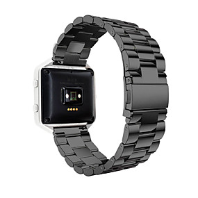 cheap Phones & Accessories-Watch Band for Fitbit Blaze Fitbit Sport Band Stainless Steel Wrist Strap