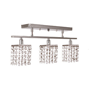 "cheap Ceiling Lights-1-Light Lightinthebox 50(20"") Crystal Flush Mount Lights Metal Chrome Modern Contemporary 110-120V / 220-240V / G9"