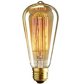 preiswerte Versandfertig in 24 Stunden-1pc 40W E26 / E27 ST64 Warmes Weiß 2300k Retro Abblendbar Dekorativ Glühbirne Vintage Edison Glühbirne 220-240V