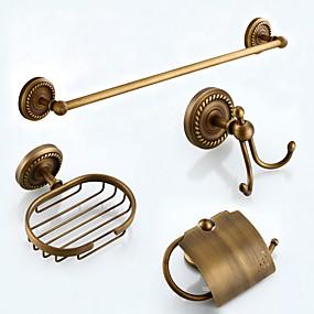 preiswerte Sales-Bad Zubehör-Set Antike Messing 4pcs - Hotelbad Toilettenpapierhalter / Kleiderhaken / Turm Bar