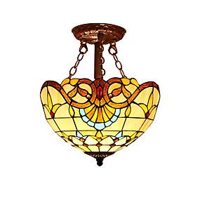 povoljno Tiffany rasvjeta-2-Light Flush Mount Ambient Light Others Glass Glass LED, dizajneri 110-120V / 220-240V Bulb not included / E26 / E27