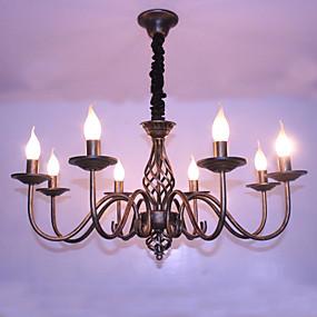 preiswerte Befestigungen für Beleuchtung-8-Licht Kronleuchter Raumbeleuchtung Andere Metall Candle-Art 110-120V / 220-240V / E12 / E14