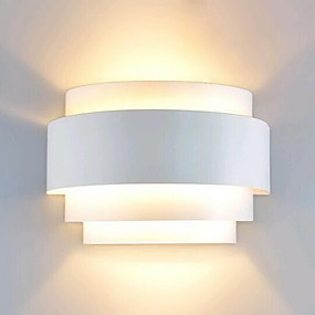preiswerte Under $49.99-Lightinthebox Moderne zeitgenössische Signalweg Metall Wandleuchte 110-120V / 220-240V 60 W / E26 / E27