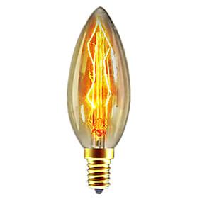 preiswerte Versandfertig in 24 Stunden-1pc 40W E14 C35 Warmes Weiß 2300k Retro / Abblendbar / Dekorativ Glühbirne Vintage Edison Glühbirne 220-240V