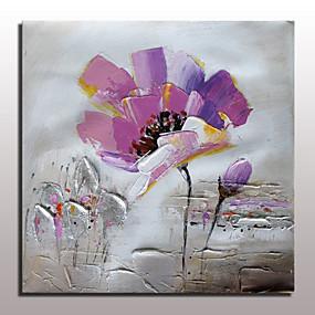 povoljno Slike za cvjetnim/biljnim motivima-Hang oslikana uljanim bojama Ručno oslikana - Sažetak Cvjetni / Botanički Moderna With Frame