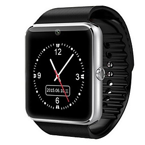 cheap Smart Watches-Men's Smartwatch Digital Touch Screen Digital Red Gold Silver / Rubber / Alarm / Calendar / date / day / Remote Control / RC / Pedometers
