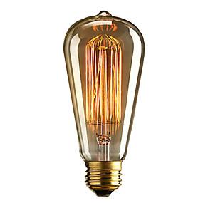 preiswerte Haus & Garten Ausverkauf-brelong 1 pc e27 40w st64 dimmbare Edison dekorative Birne warmweiß