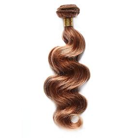 preiswerte Tres Jolie®-Indisches Haar Große Wellen Echthaar Vorgefärbten Haargewebe Menschliches Haar Webarten Schlussverkauf Haarverlängerungen