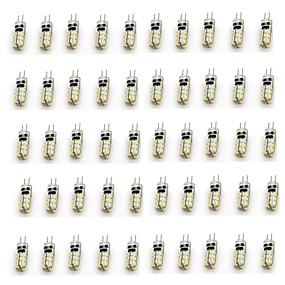 cheap LED Bi-pin Lights-50pcs 2 W LED Bi-pin Lights 90-110 lm G4 T 24 LED Beads SMD 3014 Decorative Warm White Cold White 12 V / RoHS