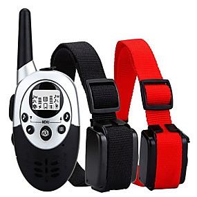 preiswerte Hunde-Hund Bellhalsband Training - Hundhalsbänder Wasserdicht Regolabile / Einziehbar Kabellos Solide Kunststoff Nylon Schwarz / Rot