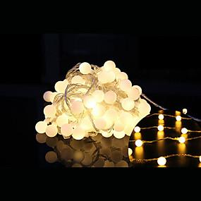 povoljno Svjetlosne trake i žice-10m Žice sa svjetlima 100 LED diode Dip Led 1set Toplo bijelo Ukrasno Povezivo 220-240 V / IP44