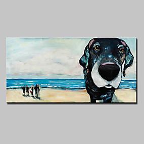 povoljno POP Art-Hang oslikana uljanim bojama Ručno oslikana - Pop art Moderna Europska Style With Frame / Prošireni platno