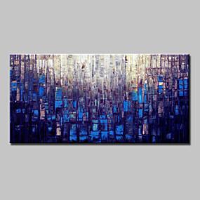 preiswerte Wand- & Ölbilder-Hang-Ölgemälde Handgemalte - Abstrakt Modern Mit der Fassung / Gestreckte Leinwand