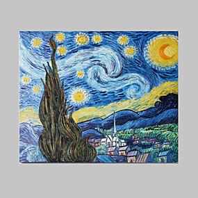 preiswerte Van Gogh Gemälde-Hang-Ölgemälde Handgemalte - Berühmte Zeitgenössisch Fügen Innenrahmen / Gestreckte Leinwand