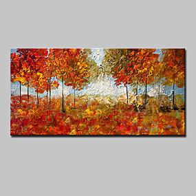 povoljno Slike za cvjetnim/biljnim motivima-Hang oslikana uljanim bojama Ručno oslikana - Cvjetni / Botanički Moderna Europska Style With Frame / Prošireni platno
