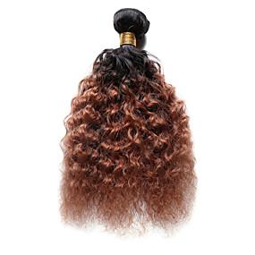 preiswerte Tres Jolie®-1 Bündel Indisches Haar Wogende Wellen Echthaar Ombre Ombre Menschliches Haar Webarten Haarverlängerungen / 8A