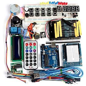preiswerte Hauptplatine-Funduino erweiterte Starter-Kit lcd Servomotor Punktmatrix-Steckbrett geführt Grundelement Pack kompatibel für Arduino