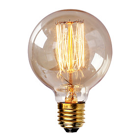 cheap Dimmable Bulbs-1pc 40W E26 / E27 G80 Warm White 2300k Retro Dimmable Decorative Incandescent Vintage Edison Light Bulb 220-240V