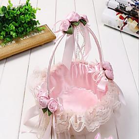 "cheap Gifts & Decorations-Flower Basket Rattan 9 1/2"" (24 cm) 1 pcs"