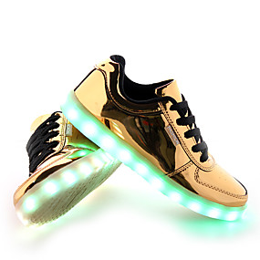 preiswerte Partysammlungen-Herrn LED Schuhe PU Frühling / Herbst Sneakers Rutschfest Gold / Silber / Schnürsenkel / Komfort Schuhe / Leuchten Schuhe / EU42