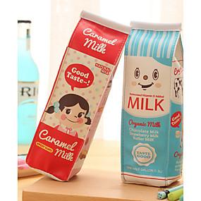 preiswerte Taschen & Geldbörsen-Milchkarton Design Textil-Federbeutel