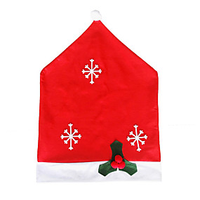 cheap Christmas Decorations-Christmas Chair Back Cover Decoracion Navidad Hat Christmas Decorations for Home Dinner Table Premium Year Xmas Chair cover