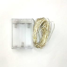 preiswerte Ausverkauf-5m 50led 3aa batteriebetriebene wasserdichte dekoration led kupferdraht lichterkette für weihnachtsfest hochzeitsfest